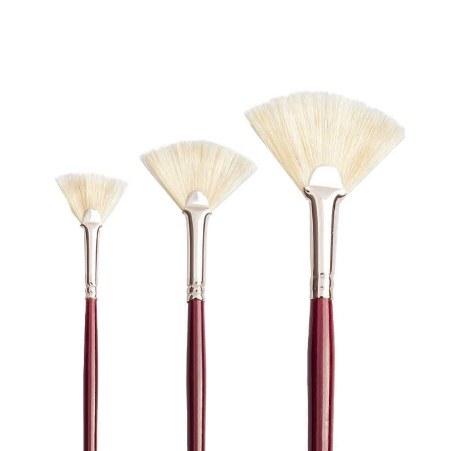 113L Beyaz Kıl Yelpaze Fırça - Yelpaze, Yağlı Boya Fırçaları, Yağlı Boya  Fırçalar - Pebeo -
