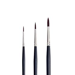 Pebeo - 200R Siyah Sentetik Yuvarlak Uçlu Uzun Saplı Fırça