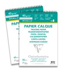 Clairefontaine - Aydınger Blok A3 40/45gr 30 Yaprak Üstten Spiralli