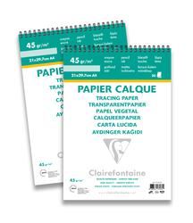 Clairefontane - Aydınger Blok A4 40/45gr 30 Yaprak Üstten Spiralli