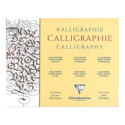 Clairefontaine - Kaligrafi Bloğu 24x30cm 130gr 25 Yaprak Uzun Kenar Yapışkanlı