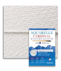 Clairefontaine - Cardinal Cold Pressed Suluboya Kağıdı 50x65cm 300gr 5li Paket