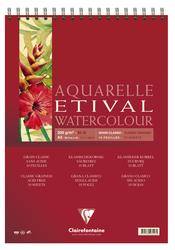 Clairefontaine - Etival Classic Suluboya Bloğu A3 200gr 30 Yaprak Üstten Spiralli