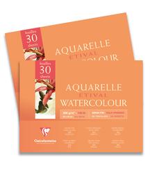 Clairefontaine - Etival Cold Press Suluboya Bloğu 18x24cm 300gr Üstten Yapışkanlı