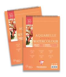 Clairefontaine - Etival Cold Press Suluboya Bloğu A4 300gr 300gr Üstten Yapışkanlı