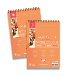 Clairefontaine - Etival Cold Press Suluboya Bloğu A5 300gr 300gr Üstten Yapışkanlı