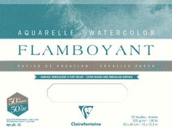 Clairefontaine - Flamboyant Suluboya Bloğu - 31x41cm, 250gr, 10 Yaprak