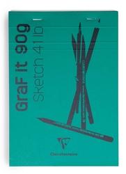 Clairefontaine - Grafit Blanc Çizim Bloğu A5 90gr 80 Yaprak Üstten Yapışkanlı