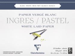 Clairefontane - Ingres Pastel Blok 130gr 18x24cm 25 Yaprak Uzun Kenar Yapışkanlı