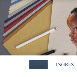 Clairefontaine - Ingres Pastel Tabaka 130gr 50x65cm DARK BLUE 25li Paket