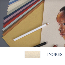 Clairefontane - Ingres Pastel Tabaka 130gr 50x65cm MARBLED BEIGE 25li Paket
