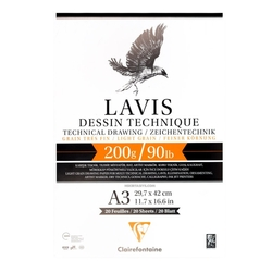 Clairefontaine - Lavis Multi Teknik Çizim Defteri A3 200gr 20 Yaprak