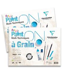 Clairefontaine - Paint-On A Grain Çizim Bloğu 35x50cm 160gr 15 Yaprak