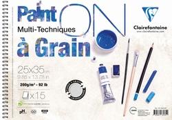 Clairefontaine - Paint-On Çizim Defter 25x35cm 200gr 15Yaprak
