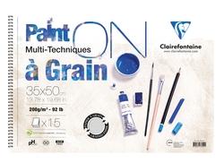 Clairefontaine - Paint-On A Grain Çizim Defteri 35x50cm 200gr 15 Yaprak