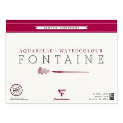Clairefontaine - Fontaine Dokulu Suluboya Bloğu 30x40cm 300gr 10 Yaprak Kenarı Yapışkanlı
