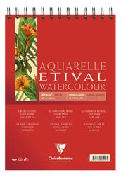 Clairefontaine - Etival Classic Suluboya Bloğu A4 300gr 30 Yaprak Üstten Spiralli