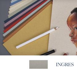 Clairefontaine - Ingres Pastel Tabaka 130gr 50x65cm DARK GREY 25li Paket