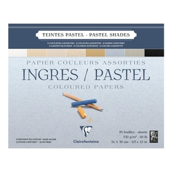 Clairefontaine - Ingres Pastel Blok 24x30cm Açık Renkler