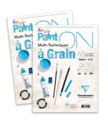 Clairefontaine - Paint-On A Grain Çizim Bloğu A4 160gr 30 Yaprak