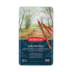 Derwent - Drawing Yağlı Pastel 12li Teneke Kutu