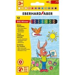 Eberhard Faber - BIG Winner Jumbo Altıgen Kuruboya 6mm 12 Renk