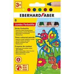 Eberhard Faber - Kısa Pastel Kalemi 8mm mine 6 Renk