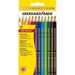 Eberhard Faber - The Winner Kalın Altıgen Kuruboya 4mm 12 Renk