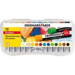 Eberhard Faber - Yağlı Pastel 12 renk Plastik Kutu