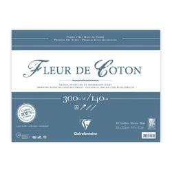 Clairefontaine - Fleur de Coton 24x32cm Uzun Kenarı Yapışkanlı 10 Yaprak