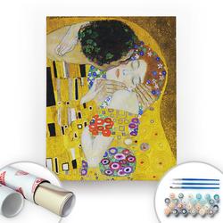 Bir Kutu Sanat - Gustav Klimt, The Kiss II - Tuval Üzerine Sayılarla Boyama Seti 40x50cm
