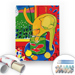 Bir Kutu Sanat - Henri Matisse, The Cat with Red Fish - Tuval Üzerine Sayılarla Boyama Seti 40x50cm