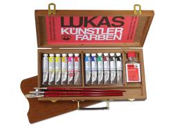 Lukas - Studio Yağlı Boya Set 12x20ml + Palet + 3 Fırça