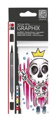 Marabu - Aqua Pen Graphix King Of Bubblegum 6 Renk