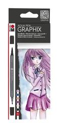 Marabu - Aqua Pen Graphix Make Manga 6 Renk