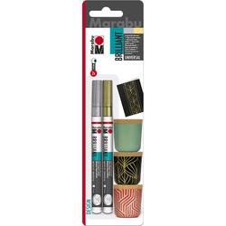 Marabu - Brillant Marker Set 1-2mm 2 Renk