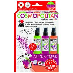 Marabu - Fashion Spray Set 3 Renk Cosmopolitan