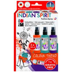 Marabu - Fashion Spray Set 3 Renk Indian Spirit
