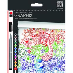 Marabu - Marabu Fineliner Colour Graphix 12 Renk