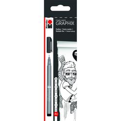 Marabu - Marabu Fineliner Graphix Siyah 4lü