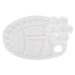 Monart - Plastik Büyük Boy Oval Palet - Çiçek