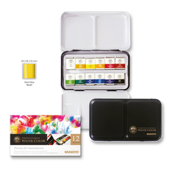 12li Aquarel Yarım Tablet Suluboya Metal Kutu - Thumbnail