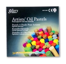 Mungyo - 24lü Karışık Yağlı Pastel Metal + Fosfor Karton Kutu