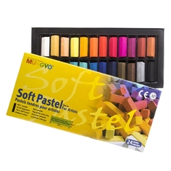 Mungyo - 24lü Yarım Boy Soft Pastel Karton Kutu