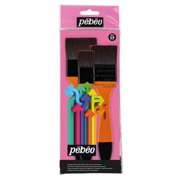 Pebeo - 3'lü Sentetik Kıl Zemin Fırçası Seti - SET 17