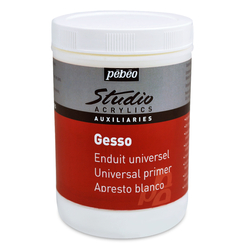 Pebeo - Akrilik Gesso Studio Beyaz Astar Boya - 1 Litre