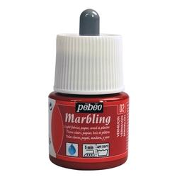 Pebeo - Marbling Ebru Boya 45ml Şişe - 13002 Vermilion
