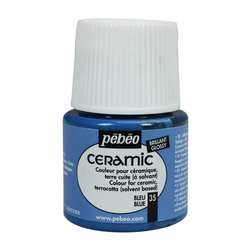 Pebeo - Solvent Bazlı Seramik Boya 45ml Şişe - 35 Blue