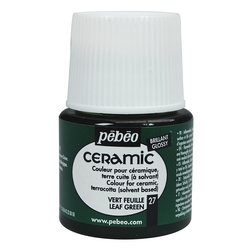 Pebeo - Solvent Bazlı Seramik Boya 45ml Şişe - 27 Leaf Green