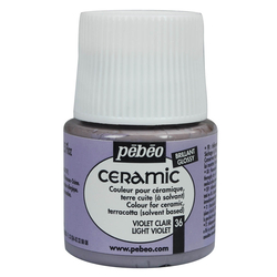 Pebeo - Solvent Bazlı Seramik Boya 45ml Şişe - 36 Light Violet